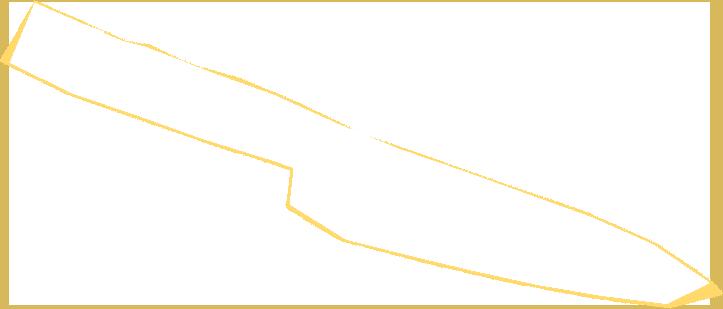 Horizontal knife outline.