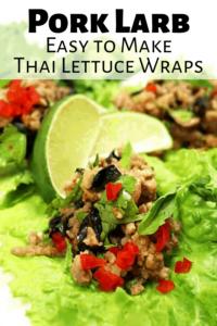 Pinterest Pin for Thai Pork Larb